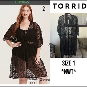 bbac954c0246a torrid Swim - Torrid Embroidered Mesh Swim Cover- Up Size 1